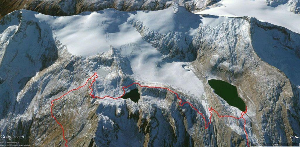 Mappatura GPS del sentiero da Lago Lares al Lago Pozzoni